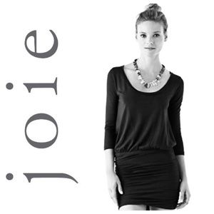JOIE Soft Black Jazmyn Dress S Small Modal NWOT